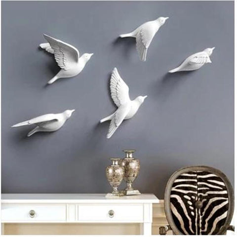 $7.70- Resin Bird Creative Wall Murals Wall Decoration Simple ThreeDimensional Bedroom Wall Stickers Tv Background Wall Decorations