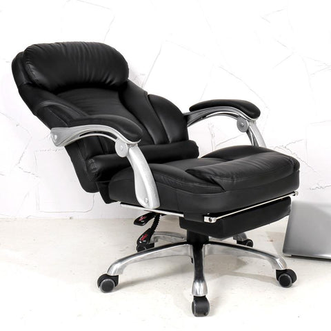$795.35- Comfortable lifting computer chair 170 degrees lying home office chair luxury PU material boss chair seat office furniture