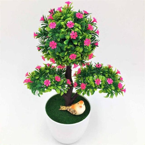 $7.60- Wedding Decorative Flowers Wreaths Artificial Flower Trigeminal Potted Bonsai Fake Flower Plant Pine Trees