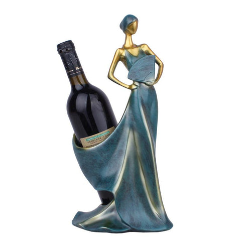 $61.06- Wine Racks Handmade Home Bar Kitchen Accessories Resin Beauty Girl Model Wine Holder Home Decoration Figurines Miniatures Craft