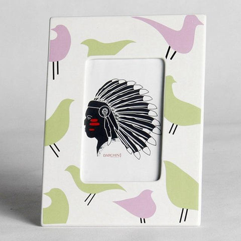 $54.05- Modern Ceramic Photo Frame Crafts Bird Pattern Home Desktop Picture Frame Creative Decoration Navidad Gift Porta Retrato Moldura
