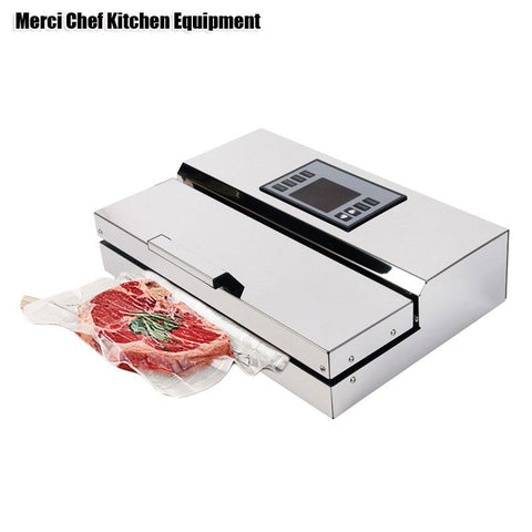 Food Machine 220V Household Commercial Food Vacuum Sealer Packaging Machine Film Sealer Vacuum Packer Stainless Steel Body