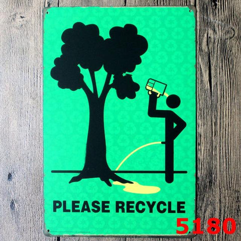 $7.85- Hot Danger Warning Signs Shabby Chic Metal Signs Retro Poster Metal Painting Decorative Wall Decor For Bar Pub Home N060