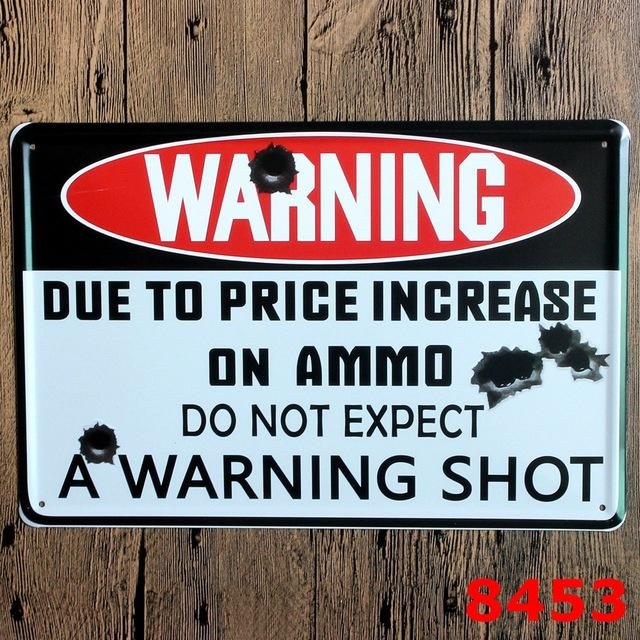 $10.83- Hot Danger Warning Signs Shabby Chic Metal Signs Retro Poster Metal Painting Decorative Wall Decor For Bar Pub Home N060