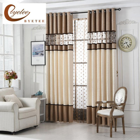 $24.62- [Byetee] High Quality Luxury Curtain For Bedroom Kitchen Curtains For Living Room Modern Cortinas Fabric Window String Curtains