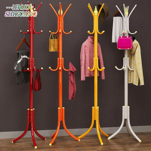 $62.62- DIY assembly Coat Rack Stainless steel Simple Assembly can be removed Bedroom Furniture Hanging storage clothes hanger wardrobe