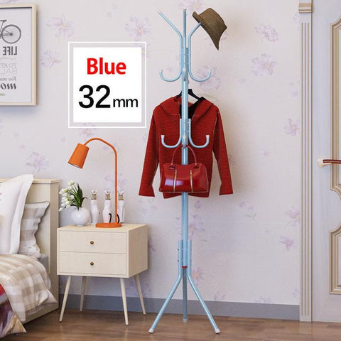 $55.71- DIY assembly Coat Rack 32mm Stainless steel Assembly can be removed Bedroom Furniture Hanging storage clothes hanger wardrobe
