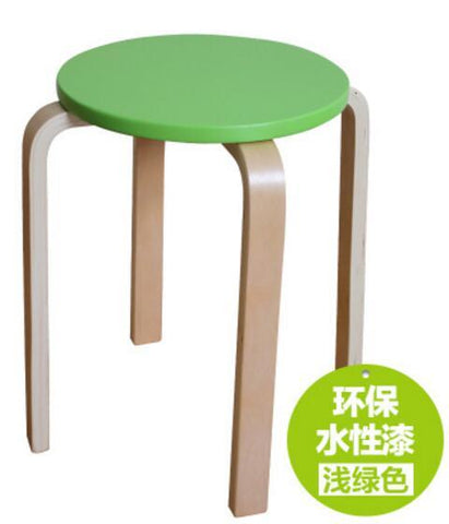 $738.11- Wooden Stool Modern Home Wooden Stool Living Room Dining Chair Hotel Cafe Bar Chair