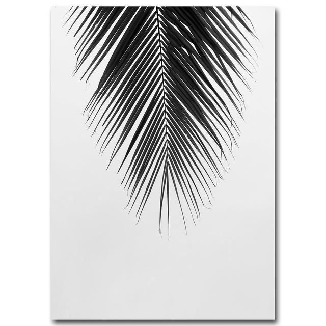 7 75 black white palm tree leaves canvas posters and prints minimalist painting wall art decorative