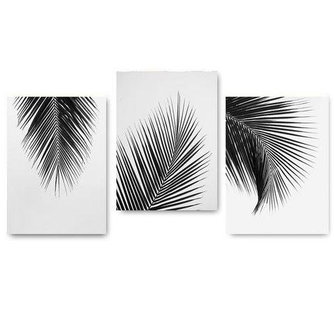 $7.75- Black White Palm Tree Leaves Canvas Posters and Prints Minimalist Painting Wall Art Decorative Picture Nordic Style Home Decor