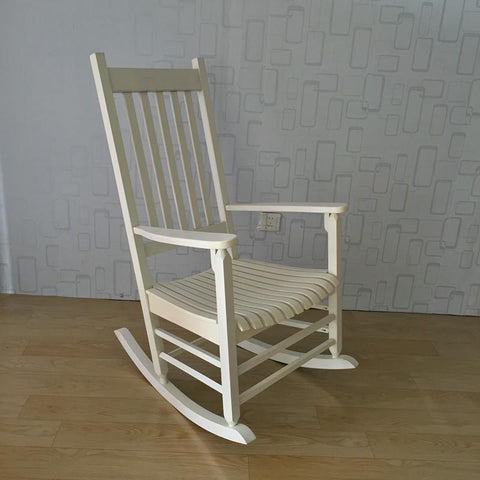 $249.23- Rocking Chair Wood Presidential Rocker Lving Room Furniture Modern Style Adult Large Rocker Rocking Chair Indoor/Outdoor Design