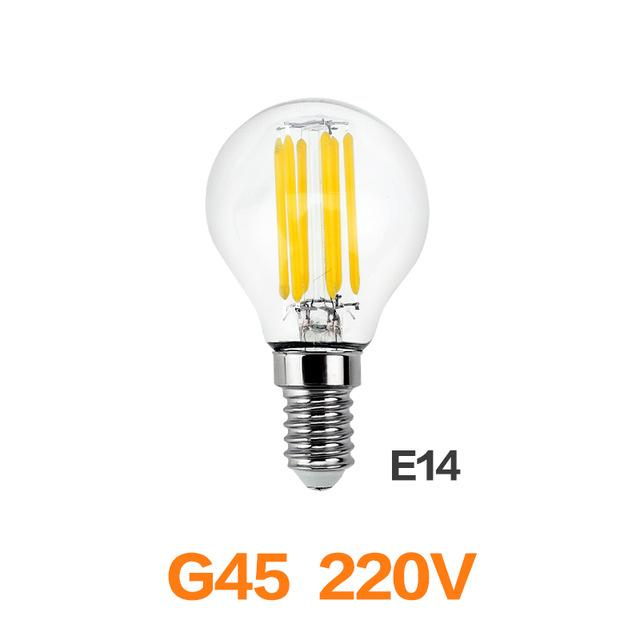 Meel Retro LED Bulb E27 E14 LED Lamp 220V 240V LED Filament Light 2W 4W 6W 8W Glass Ball Bombillas LED Edison Bulb Light