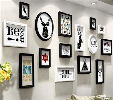 Buy White Photo Frame Set 15 Piece 12 Inch Wooden Handmade Picture ...