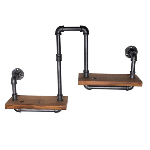$154.68- Wood Size 30*15Cm American Retro Style To Do The Old Industrial Pipes Innovative Design Wrought Iron Shelves Display ShelvesZ21