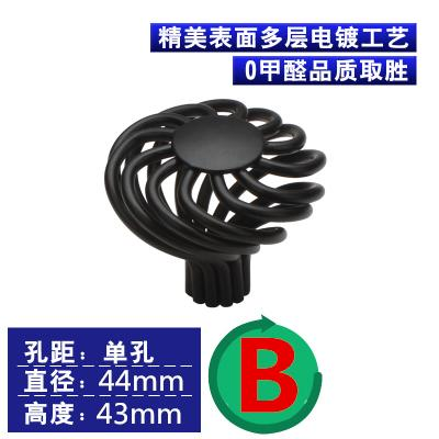Single Knob / Hole CC 96mm/128mm/160 Hollow out Cage black furniture birdcage handle drawer Pull for Cupboard Dresser cabinet