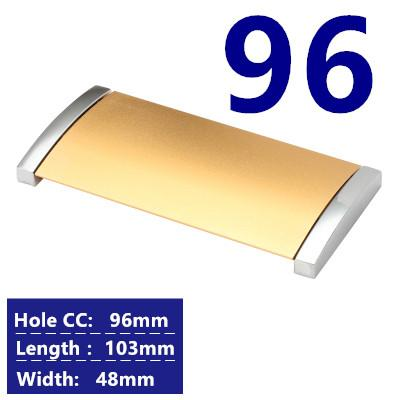 $3.31- Hole CC 32mm/64mm/96mm rectangular shape hidden Furniture Handle pull for kitchen Cabinet cupboard drawer closet door