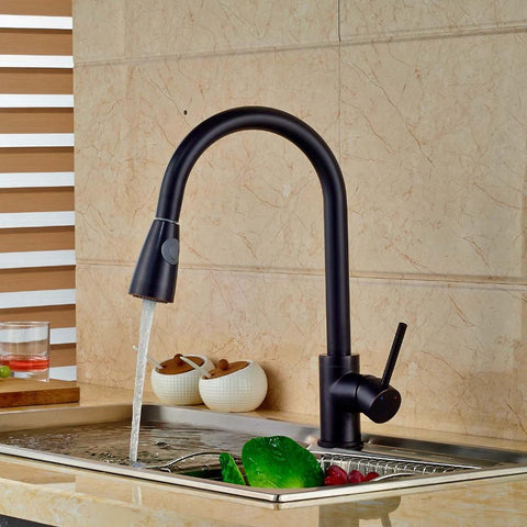 $104.98- Luxury Pull Out Sprayer Kitchen Faucet Swivel Spout Vessel Sink Mixer Tap