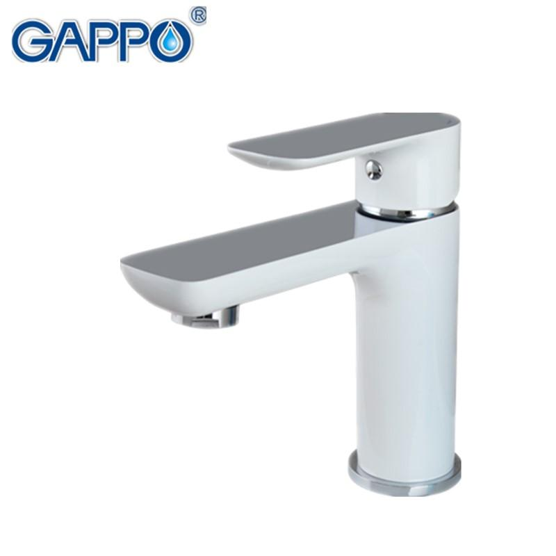 Buy GAPPO new white brass bathroom basin faucet hot and cold water ...