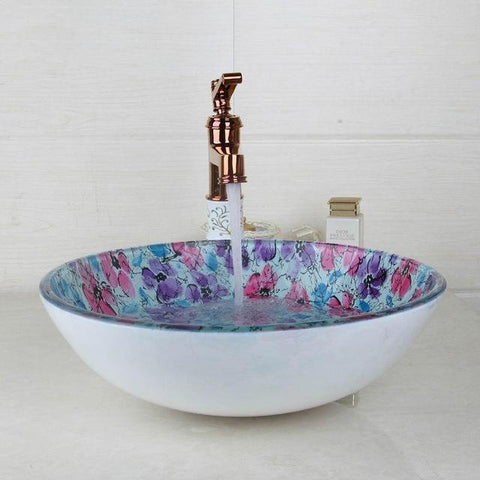 KEMAIDI ORB Black Faucet Glass Washbasin Vessel Lavatory Basin Bathroom Sink Bath Combine Brass Vessel Vanity Tap Bathroom Mixer