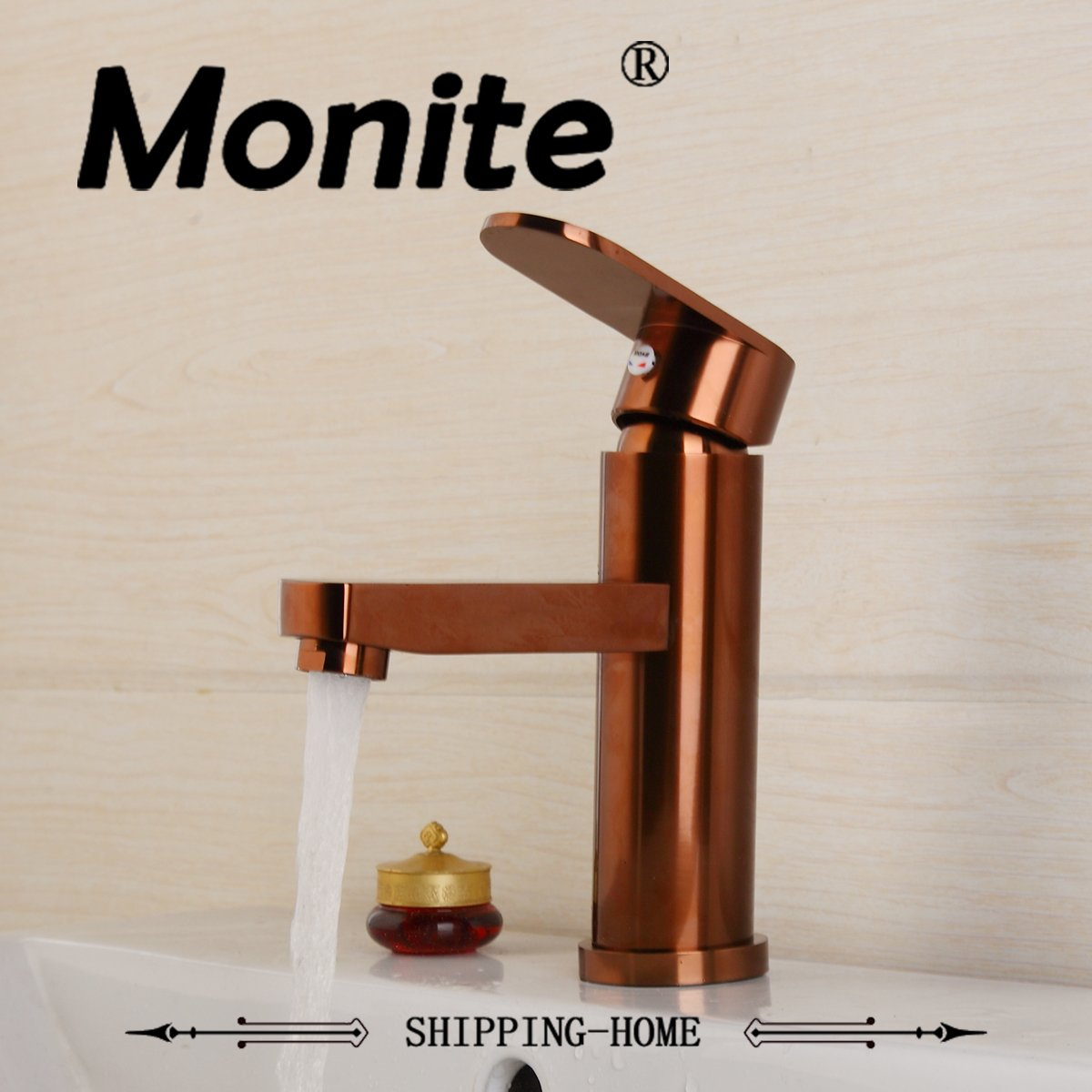 Durable Solid Brass Bathroom Faucet Basin Faucet Pink Gold-Plated ...