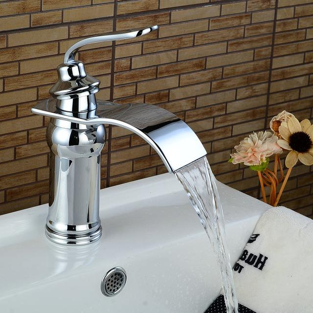 Buy Basin Faucets Bathroom Basin Sink Brass Mixer Tap Hot Cold Black ...
