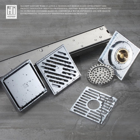 $34.97- HIDEEP Floor Drain Cover Waste Drainer Washing Drainer Dedicated Shower Floor Grate Drain Brass Bathroom Kitchen Accessory