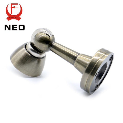 NED DFL106 Bronze Color Stainless Steel Magnetic Sliver Door Stop Casting Powerful Door Stopper Holder Catch For Bedroom Home