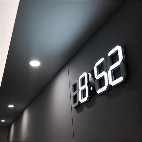 $24.71- 3D Led Wall Clock Modern Digital Alarm Clocks Display Home Kitchen Office Table Desk Night Wall Clock 24 Or 12 Hour Display