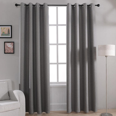 $21.58- Modern Solid Blackout Curtains for Bed Room Living Room Window Curtain Drapes Shades Window Treatments Gray Cream Purple Brown