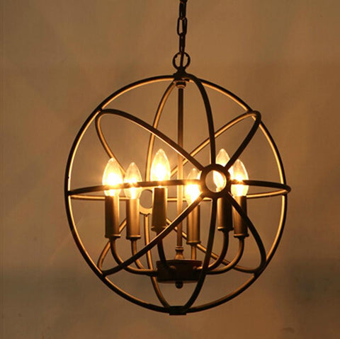$136.00- Loft American Style Retro Nordic Vintage Pendant Light Iron Industrial Hanging Lamp Living Room Dining Room Light Fixture Lamp