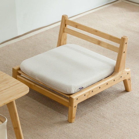 $238.17- Meditation Seat with Cushion Tatami Chair Floor Backrest Chair Home Living Room Bamboo Furniture Japanese Legless Zaisu Chair