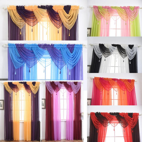$5.82- 1 Piece Valance European Royal Luxury Valance Curtains For Living Room Window Curtains For Bedroom Valance Curtains For Kitchen