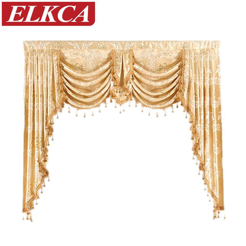 $92.40- 1 Piece Valance European Royal Luxury Valance Curtains For Living Room Window Curtains For Bedroom Valance Curtains For Kitchen