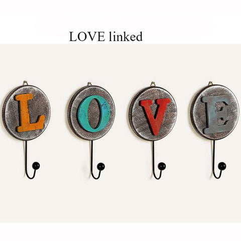 4 Pcs/set Hooks European Creative Retro Wooden Wall Decoration Coat Rack Hanger Living Room Furniture