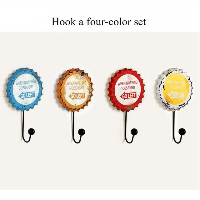 $37.80- 4 Pcs/set Hooks European Creative Retro Wooden Wall Decoration Coat Rack Hanger Living Room Furniture