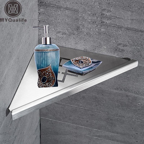$45.95- Wall Mount Stainless Steel Storage Basket Shower Room Commodity Rack Soap Dish Shampoo Holder Bathroom Shelves