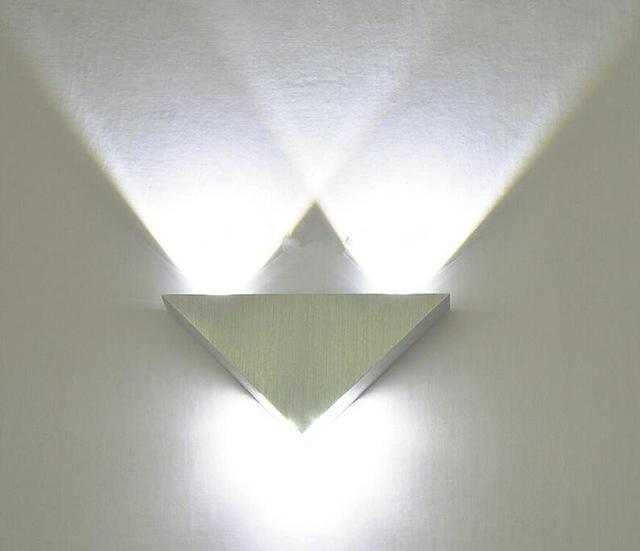 Buy Modern Led Wall Lamp 3W Aluminum Body Triangle Wall Light For ...