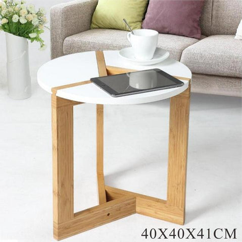 $71.98- Lanskaya Modern Bamboo Side Living Room Sofa Tea Home Wooden Coffee Table Furniture Bedroom