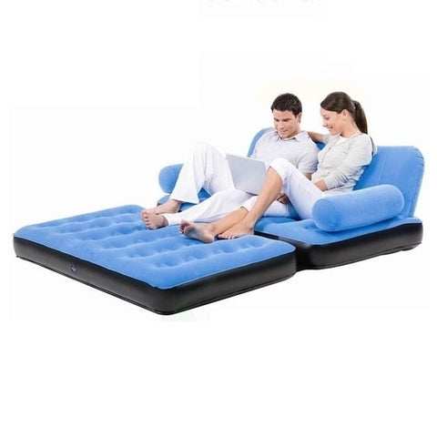 $299.01- 4135 Double Single Inflatable Air Cushion Outdoor Folding Cr Sofa Bed For Lunch