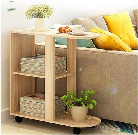 $262.35- 60X30X66Cm Wood Bedside Table Modern Sofa Side Table Living Room Storage Cabinet W/ Wheels