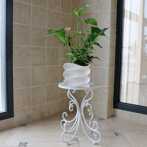 $106.08- Garden Iron Outdoor Balcony Multifunctional Metal Living Room Plants Decoration Flowerpot Rack Shelves Green Flower Shelf