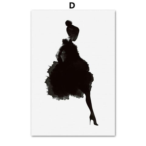 Afflatus Girl Bird Leaves Nordic Poster Canvas Painting Wall Art Print Figure Painting Wall Pictures For Living Room Home Decor