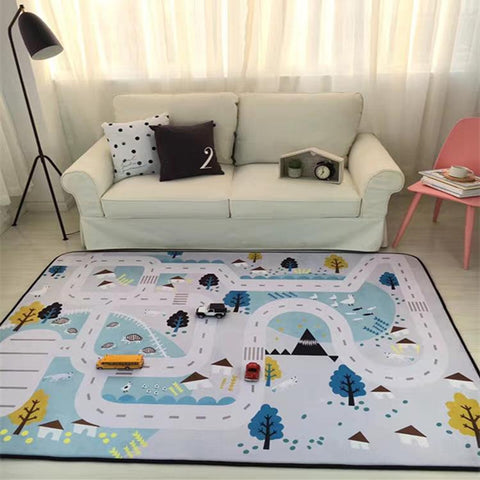 $233.39- 150X190Cm For Living Room Cartoon Children Bedroom Rugs And Carpets Coffee Table Area Rug Kids Play Mat