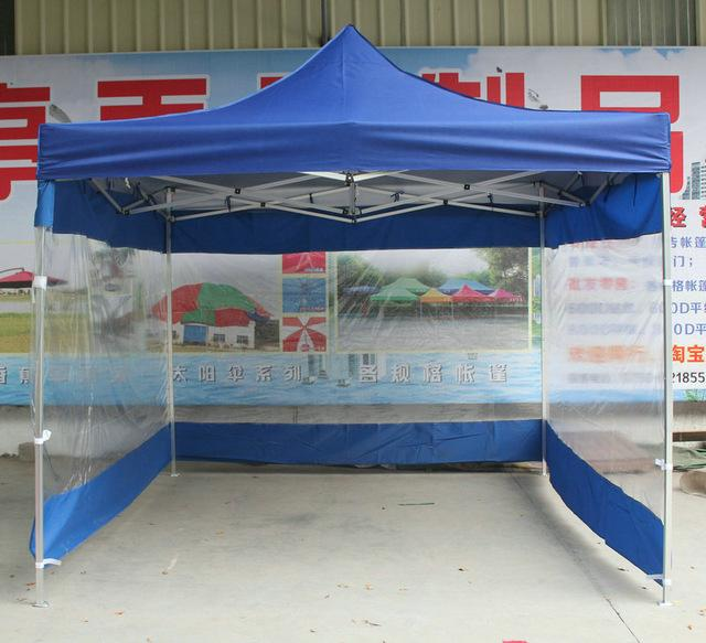 $678.30- 3*4.5M Outdoor Folding Advertising Tents Sun Shelter Gazebos W/ Transparent Waterproof Pvc Side Cloth