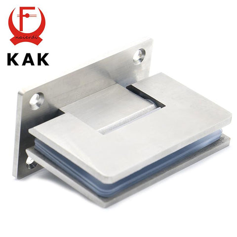 $58.84- 2Pcs Kak4913 90 Degree Open 304 Stainless Steel Wall Mount Glass Shower Door Hinge For Home Bathroom Furniture Hardware