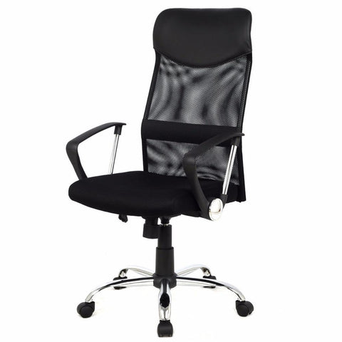 $98.58- Giantex Modern Ergonomic Mesh High Back Executive Computer Desk Task Office Chair Black Gaming Chairs Cb10051