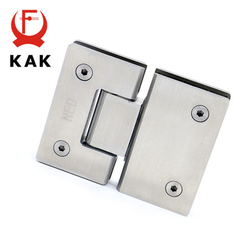 $97.53- 2Pcs Kak4904 180 Degree Open 304 Stainless Steel Wall Mount Glass Shower Door Hinge For Home Bathroom Furniture Hardware