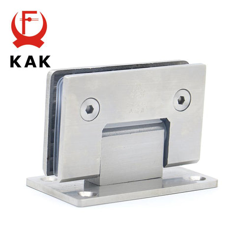 $58.83- 2Pcs Kak4913 90 Degree Open 304 Stainless Steel Wall Mount Glass Shower Door Hinge For Home Bathroom Furniture Hardware