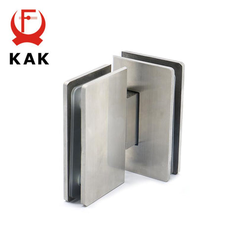 $43.18- Kak4904 180 Degree Hinge Open 304 Stainless Steel Wall Mount Glass Shower Door Hinges For Home Bathroom Furniture Hardware