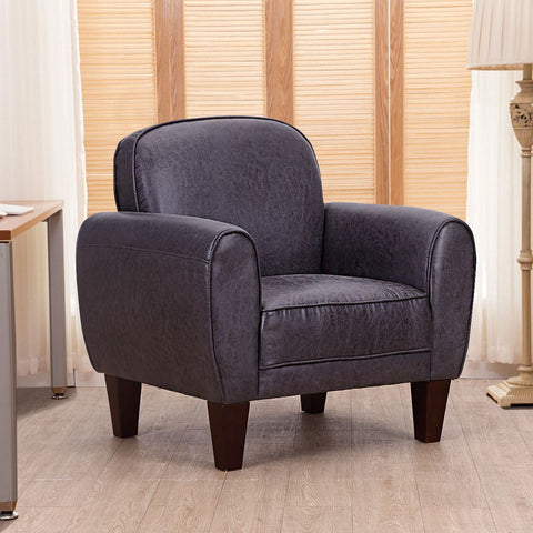 $195.48- Giantex Single Sofa Living Room Leisure Arm Chair Accent Upholstered Modern Chairs High Quality Home Office Furniture HW55497BK